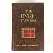 The Ryrie Study Bible Nas Version Holy Bible Brown Hardcover 1977 Moody Press