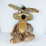 Vintage 24 Wile E Coyote Hard Plush 1971 Warner Brothers Mighty Star