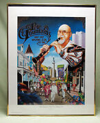 Pete Fountain Signed And Numbered Limited Edition Mardi Gras Jazz Poster Framed