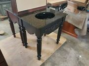 Handcrafted Solid Wood Vanity Black Undermounted Sink With Real Granite Top