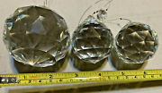 Round Crystal Ball Prisms , Set Of 3, Large To Small