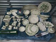 Lenox Full Formal Holiday Holly And Berries Ivory Bone China Set 24k Gold Accent