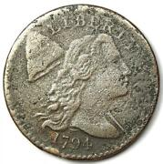 1794 Liberty Cap Large Cent 1c Coin - Vf / Xf Details Corrosion - Rare
