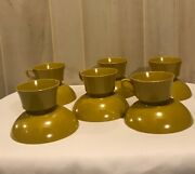 Vintage Lot 12 Pc Melmac Cups And Bowls, Melamine Cups And Bowls, Retro Dinnerware