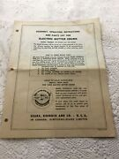 Sears Electric Butter Churn Paper Instruction Manual Vintage