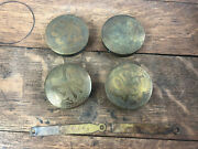 Vintage Antique Lot Of 4 Brass Chinese Asian Cabinet Locks