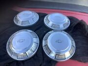 Vintage Nos 1968-70 Chevy Impala Dog Dish Poverty Hubcaps Wheel Covers