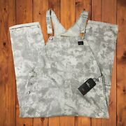 Leviand039s Red Tab Hi-ball Overalls Pants Ripstop Cargo Monster Camo Mens Size Small