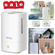 4.5l Ultrasonic Cool Mist Humidifier Air Purifier Large Room Home Office Bedroom