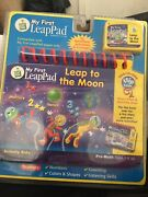 My First Leap Pad Leap Frog Book And Cartridge Leap To The Moon Preschool Math New