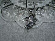 Sterlingsilver Winged Fairy Riding The Moon, 2mm 16-30 Inch Sterling Necklace.