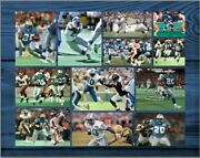 Barry Sanders - Old School Football Poster/collage - 11x14