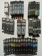 Lot Of 37 Genuine Canon 226/225/6/250 Empty Ink Cartridges Virgin/never Refilled