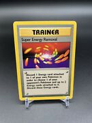 Super Energy Removal 79/102 Rare Trainer 1999 Base Set Unlimited Pokemon Cards
