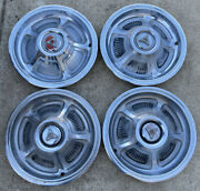 Dodge Hubcaps 14 Inch Wheel Covers Set Of 4 1968 1969 For Restoration