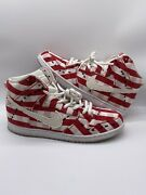 Nike Sb Dunk Picnic Table Cloth Denim Ants Red Mens Sneakers 305050-610 Size 14