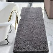 Chenille Bathroom Mats With Non-slip Backing Machine Washable Durable Rug