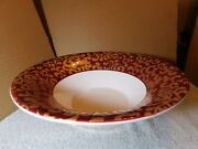 """Serverf.giorgi By Ceramica Varm Made In Italy, 14"""" Console White, Red And Gold"""