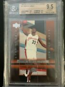 Lebron James 2003-04 Upper Deck Rookie Exclusives Basketball Rc 1 Bgs 9.5