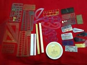 Lot 30+ Vintage Drafting Templates Isometric Curves Angles Protractor Rulers