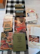 Vintage Lot Of Handwrittenclippedcopiedtyped Recipes And 3 Cookbooks