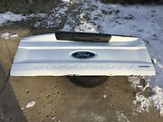 17-18 F 250 F 350 Ford Pick Up Truck Complete Tailgate Tail Gate Damaged White