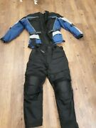 Menand039s 6th Gear Padded Armor Motorcycle Jacket Zip Out Liners Blue/bl. Xl Pants
