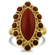 Victorian Coral Ring
