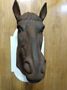 Rare Antique French 1800s Cast Iron Horse Head Life-size .