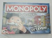 Hasbro Monopoly Special Edition Sore Losers Game, 2-6 Players For Ages 8+ New