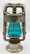 Antique Deluge Dietz King Fire Department Nickel Over Tin And Copper Lantern