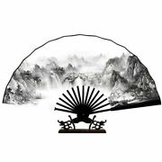 Chinese Classical Folding Paper Fan Vintage Lady Dance Bamboo Home Decoration