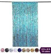 8 Ft X 8 Ft Big Payette Sequined Backdrop Curtains Wedding Party Decorations