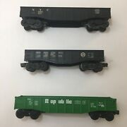 Vtg Lionel Freight Flat Car Lot Of 3- 6462, 9142, 347000