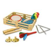 Melissa And Doug Band-in-a-box Clap Clang Tap - 10-piece Musical Instrument Set