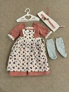 Pleasant Company American Girl Felicity Spring Gown And Pinner Apron Birthday Euc