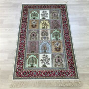 Yilong 2.5and039x4and039 Four Seasons Handknotted Silk Carpet Oriental Indoor Rug Y165a