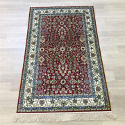 Yilong 2.5and039x4and039 Handwoven Silk Red Carpet Home Interior Traditional Rug Y168a