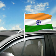 India Car Flag 18 X 12 Country Car Window Clip On Flag Graphic+hardware