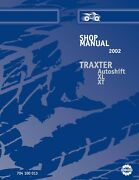 2002 Bombardier Traxter 500 Auto, Footshift, Xl And Xt Technical Workshop Manual