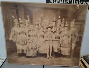 Vintage 19th Century Large Cabinet Card Photo Play Drama Theater Incredible Find