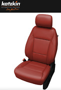 2021 Ford F-150 Xlt Supercrew Custom Red Leather Seat Replacement Covers Upgrade