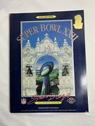 1988 Super Bowl Xxii Official Program Baseball Game 🏈🏈🏟 Cool Collectible
