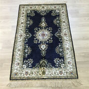 Yilong 2.5and039x4and039 Traditional Home Decor Hand Knotted Silk Carpet Floral Rug 166a