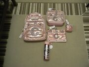 Nwt Justice Girls Rose Gold Unicorn C Backpack Lunch Pencil Water Keychain 5pc