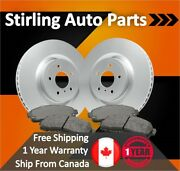 2000 2001 For Pontiac Sunfire Coated Front Disc Brake Rotors And Ceramic Pads