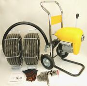 Bluerock Tools Sds200b 2 - 8 Sectional Pipe Drain Clean Machine Package Deal