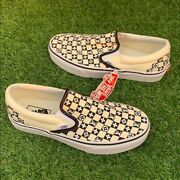 Classic Blk And Off White Slip On Checkerboard Unisex Most Sizes