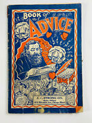 Antique C.1900 Book Of Advice By J.c. Strong Novelty Potion Magic Catalog Rare