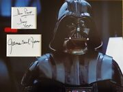 Dave Prowse And James Earl Jones Signed 16x12 Photo Display Star Wars Darth Vader